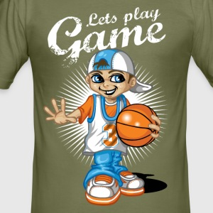Basketball kid - Tee shirt près du corps Homme