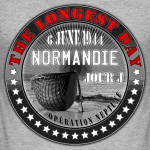 the longest day normandie jour j 1944 Tee shirts - Tee shirt près du corps Homme