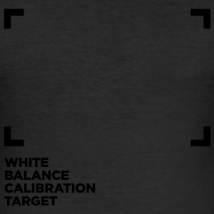 WHITE BALANCE CALIBRATION TARGET - Männer Slim Fit T-Shirt