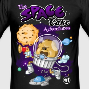 Space cake adventures - Men's Slim Fit T-Shirt