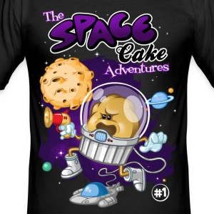 Space cake adventures - Männer Slim Fit T-Shirt