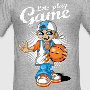 Basketball kid - Men's Slim Fit T-Shirt