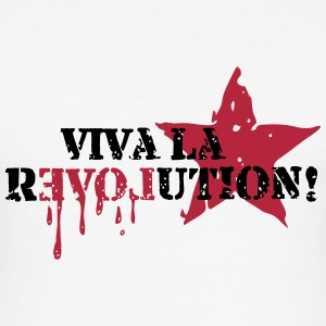 Viva la REVOLUTION, LOVE, Star, Anarchy, Punk T-Sh - Männer Slim Fit T-Shirt
