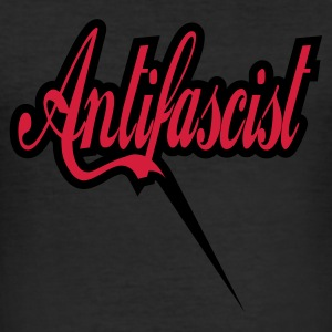 0045 Antifascist Shirt Antifaschist - Männer Slim Fit T-Shirt