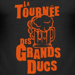 tournee grand ducs expression biere Tee shirts - Tee shirt près du corps Homme