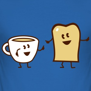 breakfast T-Shirts - Männer Slim Fit T-Shirt