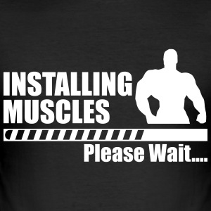 Installing Muscle T-Shirts - Men's Slim Fit T-Shirt
