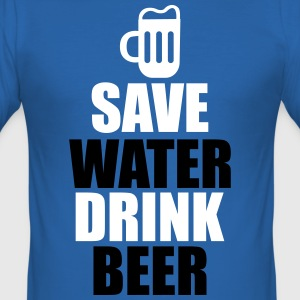 Cool quote - Save water drink beer T-Shirts - Men's Slim Fit T-Shirt
