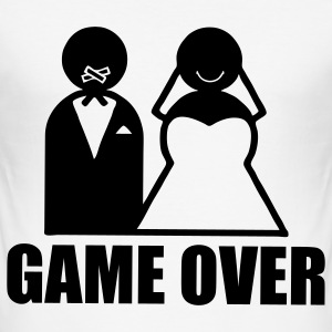 Game Over weeding mariage humour Tee shirts - Tee shirt près du corps Homme