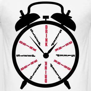 Clock Drink Sleep T-Shirts - Männer Slim Fit T-Shirt