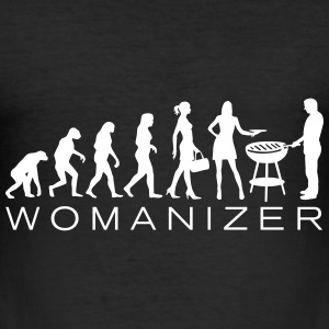 Evolution Womanizer BBQ T-Shirts - Männer Slim Fit T-Shirt