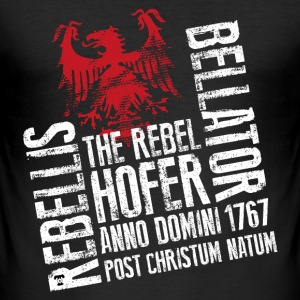 The Rebel Hofer Männer T-Shirt schwarz - Männer Slim Fit T-Shirt