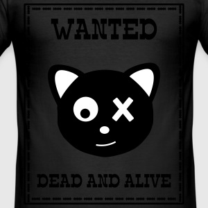 Wanted Schrödingers Katze Dead and Alive T-shirts - Herre Slim Fit T-Shirt