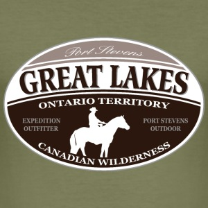 Great Lakes T-shirts - Herre Slim Fit T-Shirt