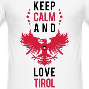 Keep calm and love Tirol schwarz T-Shirts - Männer Slim Fit T-Shirt