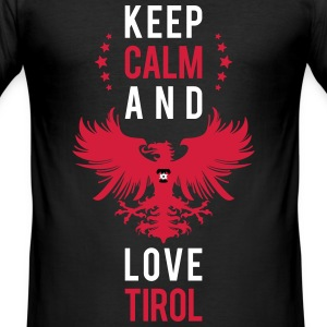 Keep calm and love Tirol weiss T-Shirts - Männer Slim Fit T-Shirt
