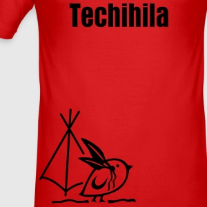 TWEETLERCOOLS - Indianer + Dein Text (Techihila) | Männershirt slim fit - Männer Slim Fit T-Shirt