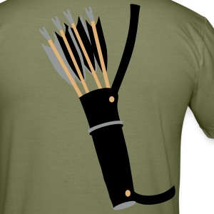 quiver archery arrow equipment by patjila T-Shirts - Men's Slim Fit T-Shirt
