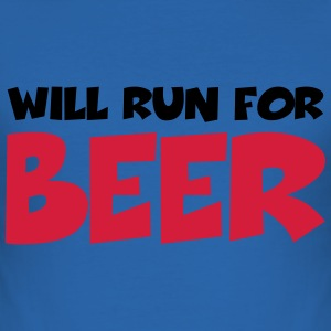 Will run for beer T-shirts - slim fit T-shirt