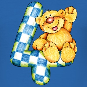 Sweet little bear and the 4 T-shirts - Slim Fit T-shirt herr