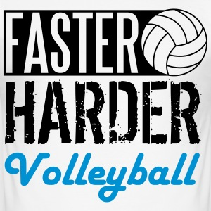 Faster, harder, Volleyball Tee shirts - Tee shirt près du corps Homme