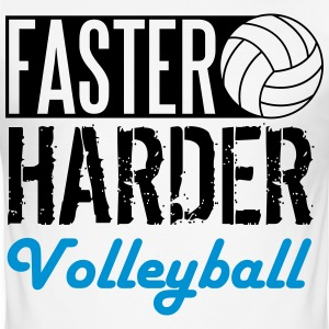 Faster, harder, Volleyball T-shirts - Herre Slim Fit T-Shirt