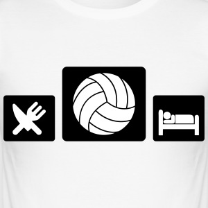 Eat Volleyball Sleep T-shirts - Slim Fit T-shirt herr