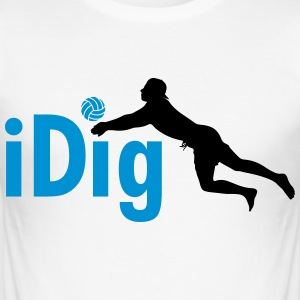 Volleyball: iDig T-shirts - Herre Slim Fit T-Shirt
