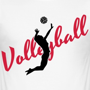 Volleyball T-Shirts - Männer Slim Fit T-Shirt