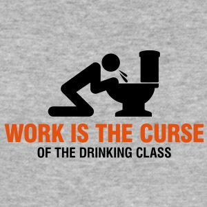 Work Is The Curse 2 (2c)++ T-Shirts - Männer Slim Fit T-Shirt