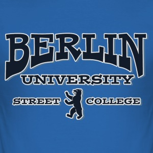 BERLIN UNIVERSITY STREET COLLEGE T-Shirts - Men's Slim Fit T-Shirt