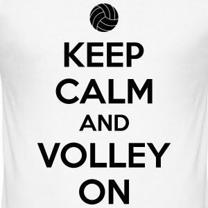 Kepp calm and volley on Magliette - Maglietta aderente da uomo