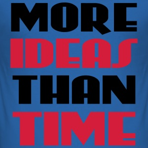 More ideas than time T-shirts - Slim Fit T-shirt herr