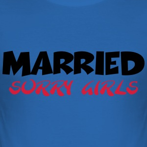 Married - sorry girls T-skjorter - Slim Fit T-skjorte for menn