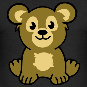 cute bear T-skjorter - Slim Fit T-skjorte for menn