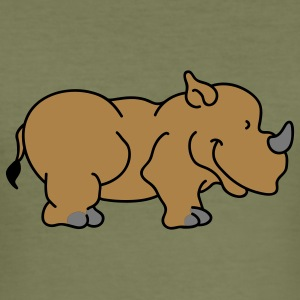Sweet little rhino T-shirts - Slim Fit T-shirt herr