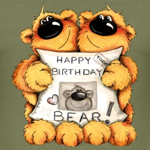 Happy Birthday, Bear Camisetas - Camiseta ajustada hombre