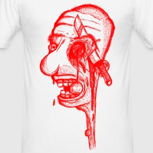 Psycho Red - Männer Slim Fit T-Shirt