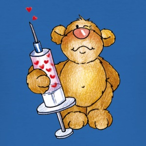 Little Bear and the syringe Camisetas - Camiseta ajustada hombre