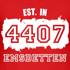 Established 4407 Emsdetten T-Shirts - Männer Slim Fit T-Shirt
