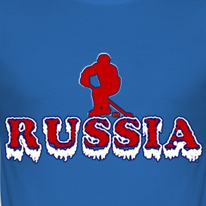Russia Hockey T-Shirts - Männer Slim Fit T-Shirt