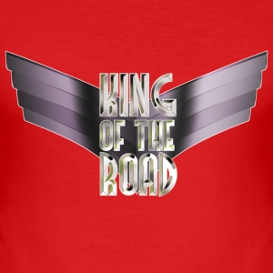 King Of The Road (White Steel Logo With Wings) - Männer Slim Fit T-Shirt