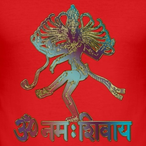 SHIVA - OM NAMAH SHIVAYA | Männershirt slim fit - Männer Slim Fit T-Shirt