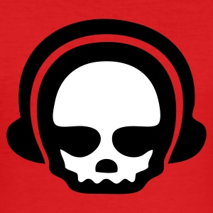 Headphone skull DJ - 2clr T-Shirts - Männer Slim Fit T-Shirt