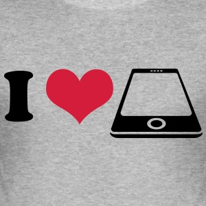 I love Smartphone T-Shirts - Men's Slim Fit T-Shirt