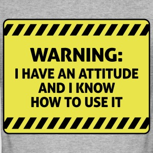 Attitude Warning 2 (2c)++ T-Shirts - Men's Slim Fit T-Shirt