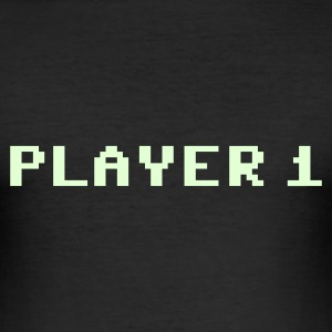 Player 1 T-Shirts - Männer Slim Fit T-Shirt