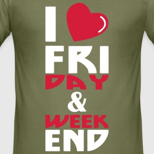 I love Week end (2c) Tee Shirts - Tee shirt près du corps Homme