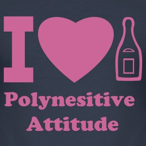 I LOVE CHAMPAGNE polynesitive attitude - Tee shirt près du corps Homme
