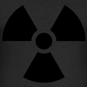 Radiation Sign (Vector) - Männer Slim Fit T-Shirt
